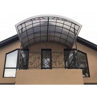 Кованое ограждение для балкона с навесом