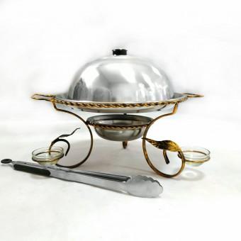 Садж большой (360 мм) с соусницами +щипчики в подарок