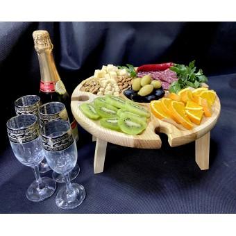 Винный столик круглый 340 мм