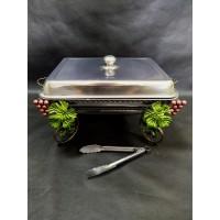 """Садж для шашлыка прямоугольный """"Виноград"""" +щипчики и свечи  в подарок"""