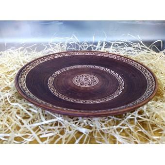 Блюдо из красной глины ф 34 см